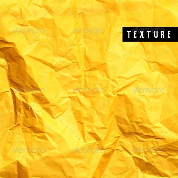 Crushed Yellow Paper II