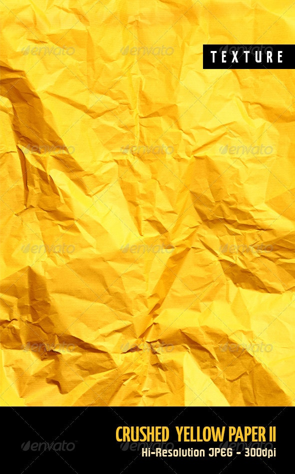 Crushed Yellow Paper II - Paper Textures