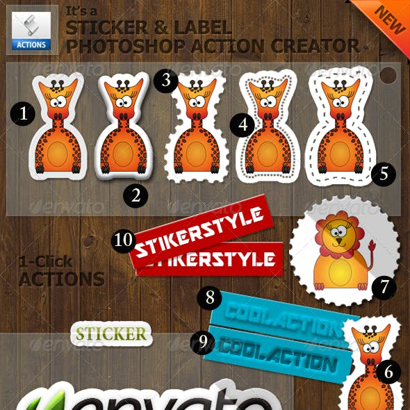 Sticker and Label Photoshop Action Creator