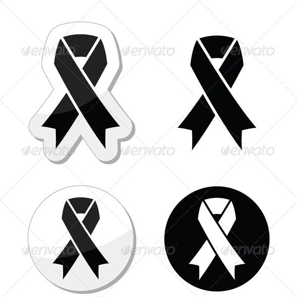 Black Ribbon - Mourning, Death Symbol