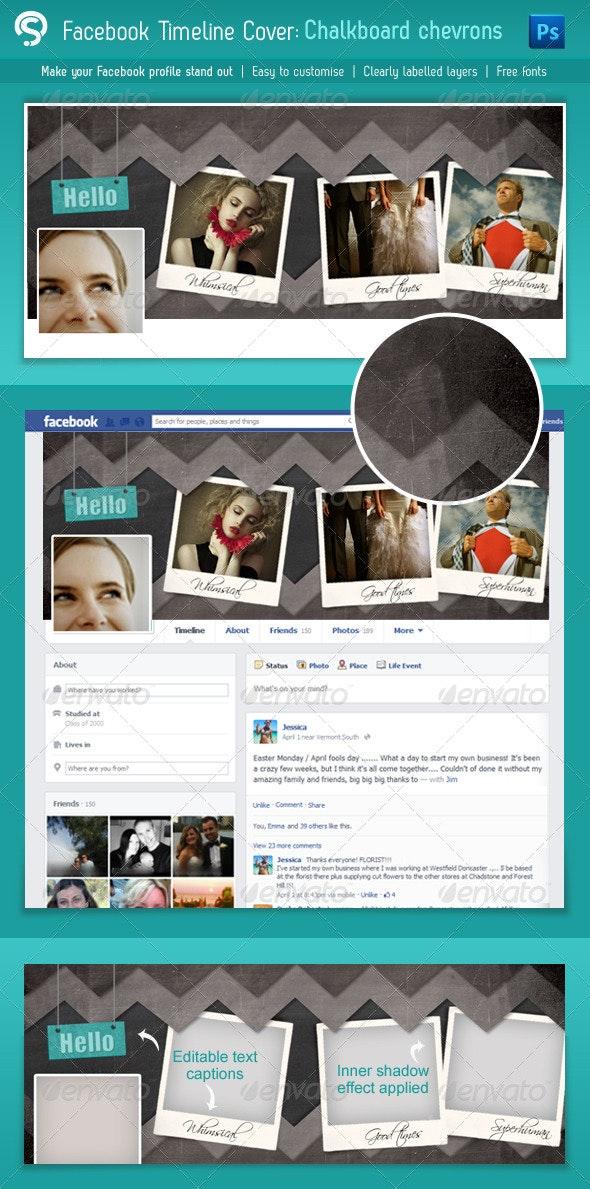 Blackboard Chevron Facebook Cover - Facebook Timeline Covers Social Media