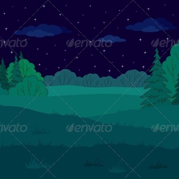 Landscape Summer Forest Glade