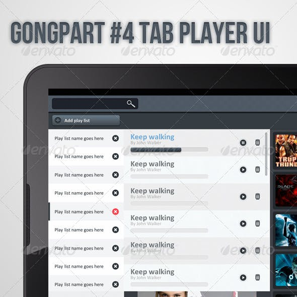 Gongpart 4 Tablet Player UI