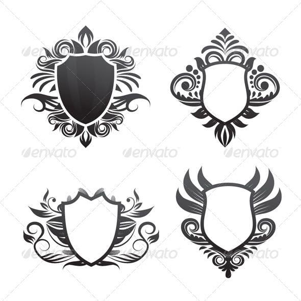 Shield Ornament Set