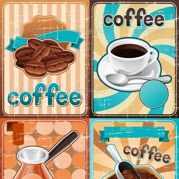 Retro Backgrounds with Coffee