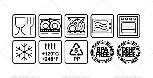 Icons of Food Packaging - Vectors