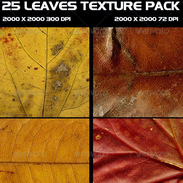 25 Leaves Texture Pack