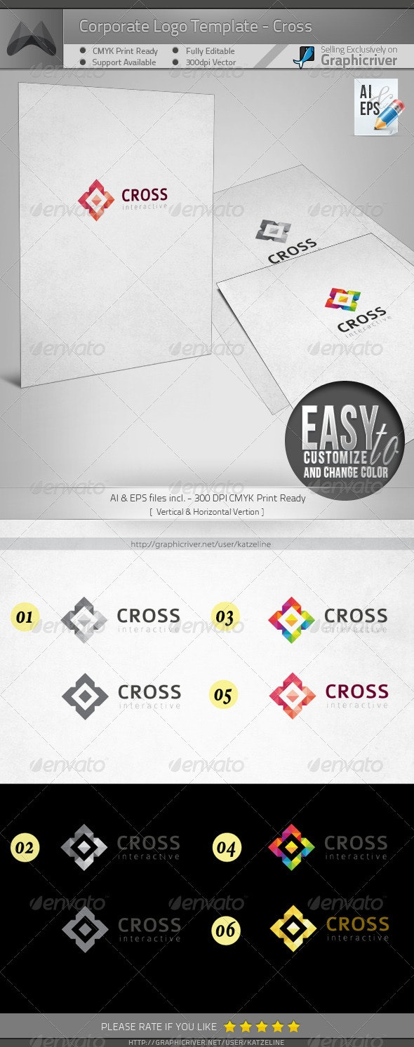 Corporate Logo - Cross - Objects Logo Templates