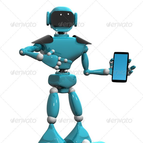 Robot with a Mobile Phone
