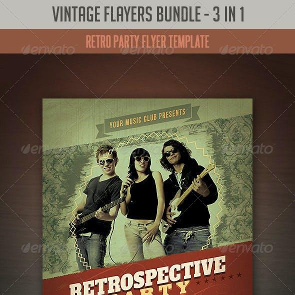 Vintage & Retro Flyers Bundle