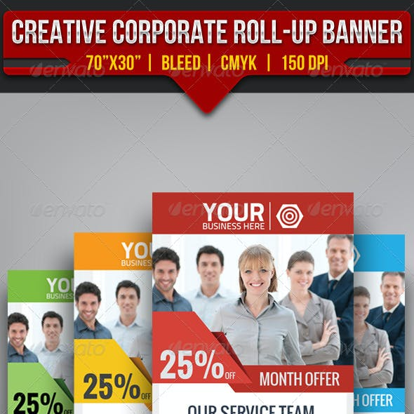 Creative Corporate Roll-Up Banner