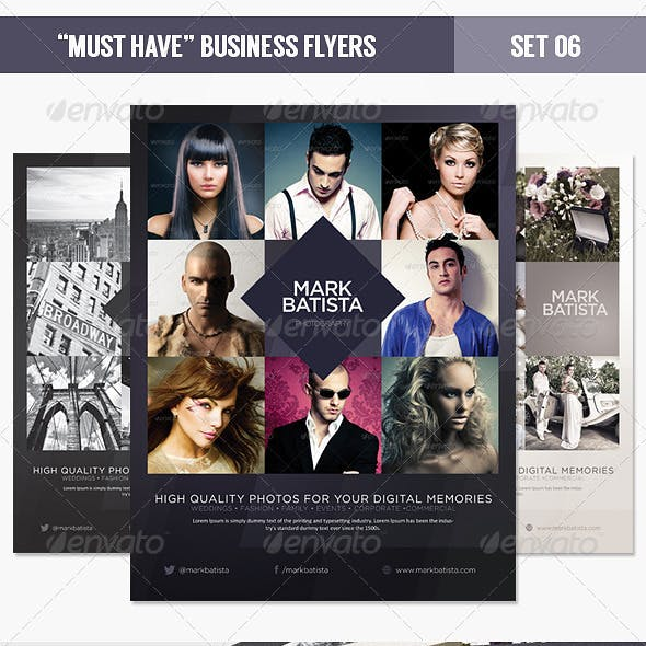 """Must Have"" Business Flyers - Set 06 Photography"
