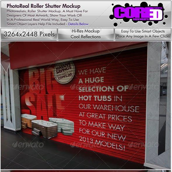 Shop Roller Shutter Mockup