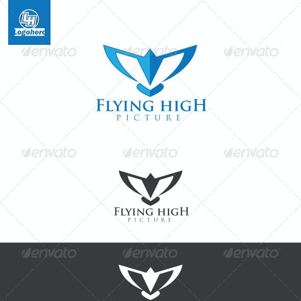 Flying High Logo Template