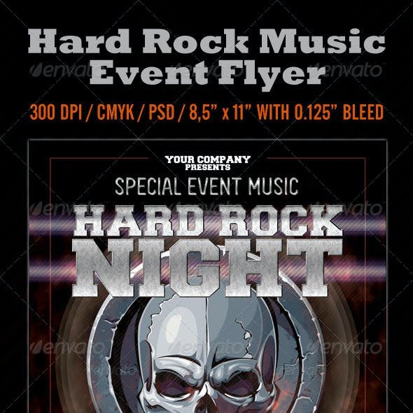 Hard Rock Night Event Flyer