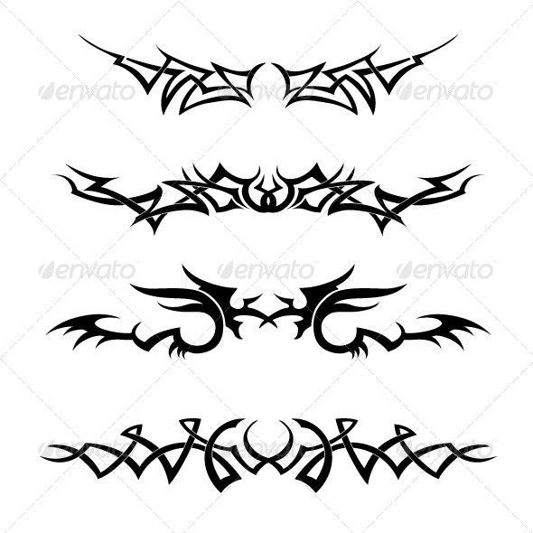 Tribal Vector Set - Tattoos Vectors