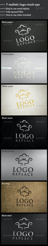 7 Realistic Logo Mock-Ups - Product Mock-Ups Graphics