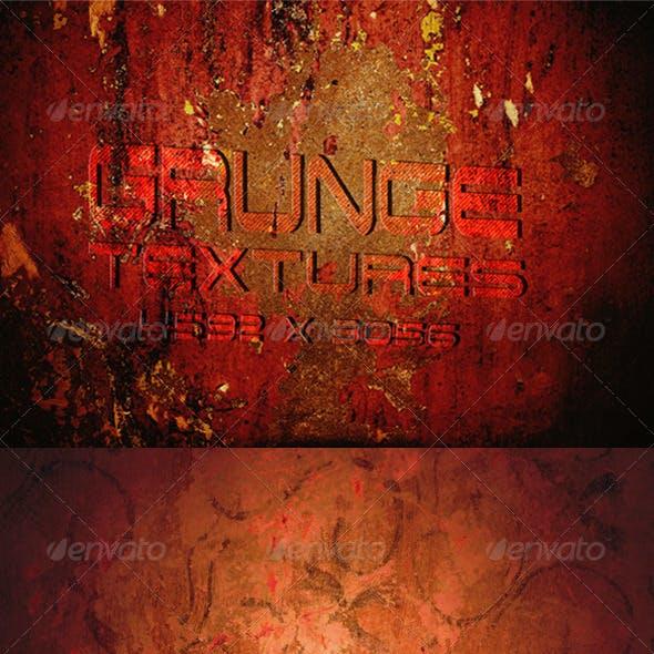 4 Grunge Textured Backgrounds Cinema Effect