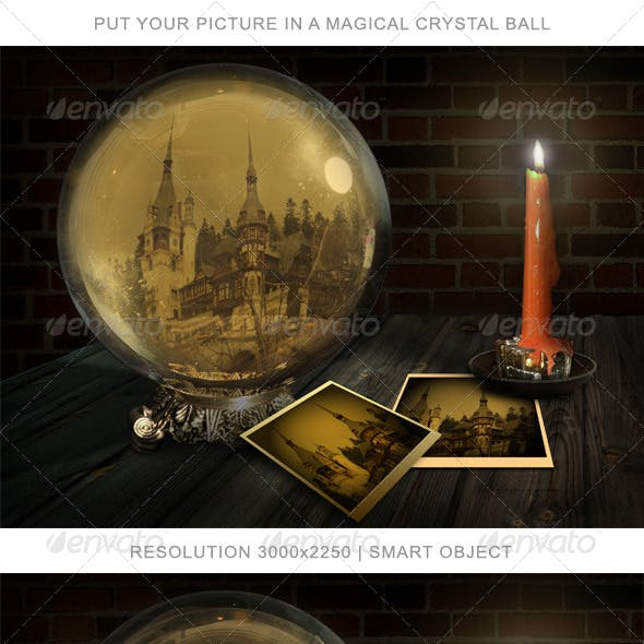 Crystal Ball Photo Template