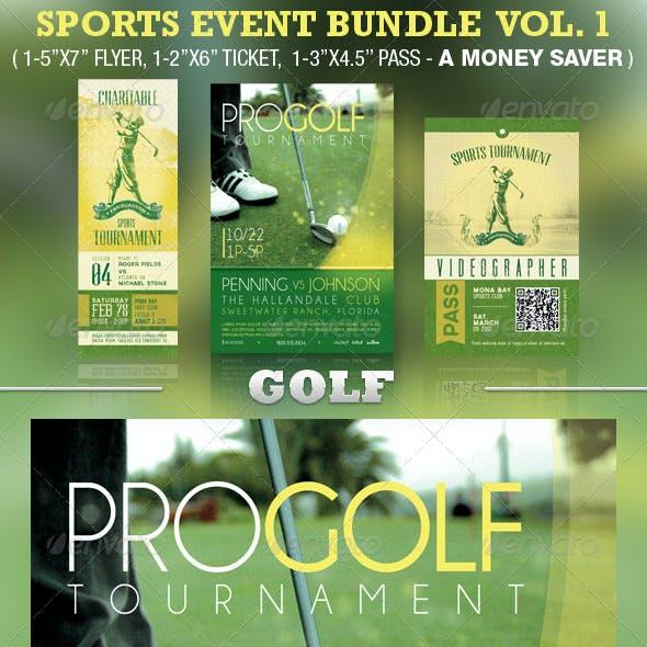 Golf Sports Event Template Bundle Vol 1