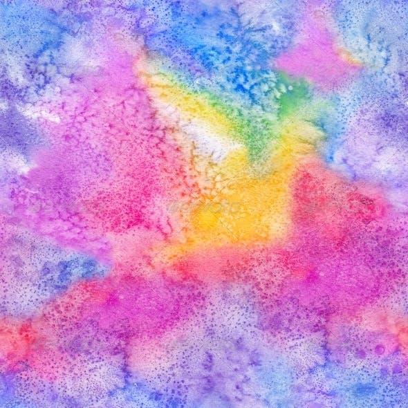 Watercolor aquarelle painted seamless pattern