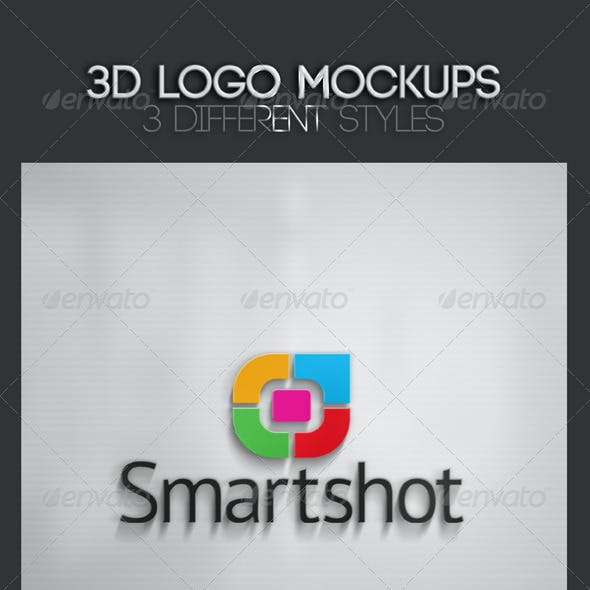 3D Logo Mockups Vol. 2