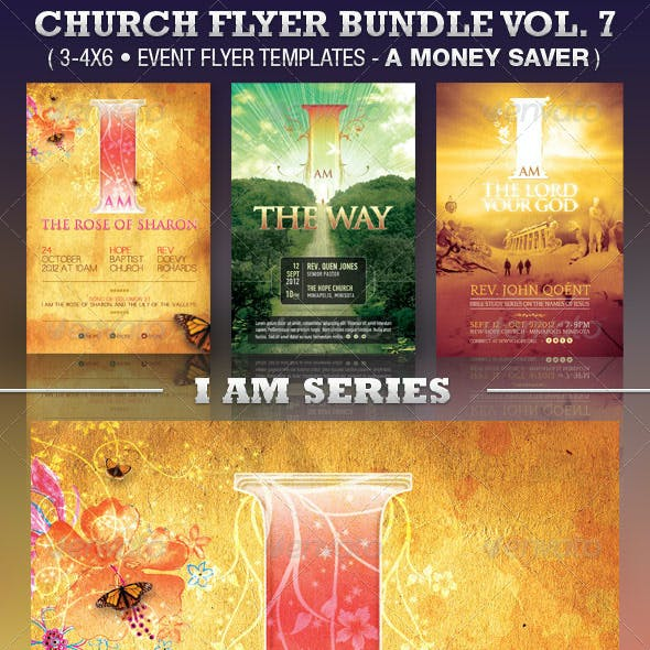 I Am Church Flyer Template Bundle Vol 7