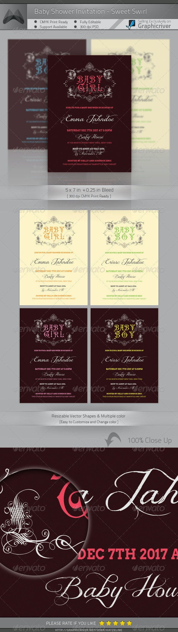 Baby Shower Invitation Card - Family Cards & Invites
