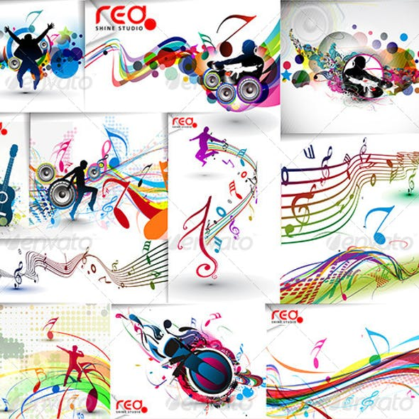 Colorful Party Music Vector
