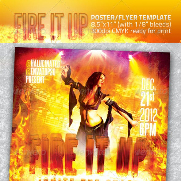 Fire It Up Flyer Template