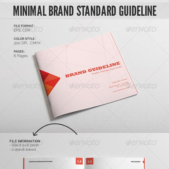 Minimal Brand Standard Guideline Template