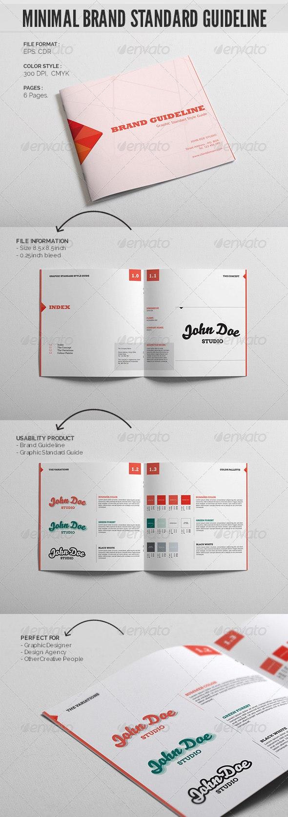 Minimal Brand Standard Guideline Template - Miscellaneous Print Templates