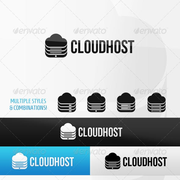 Cloudhost Cloud Hosting Logo Template
