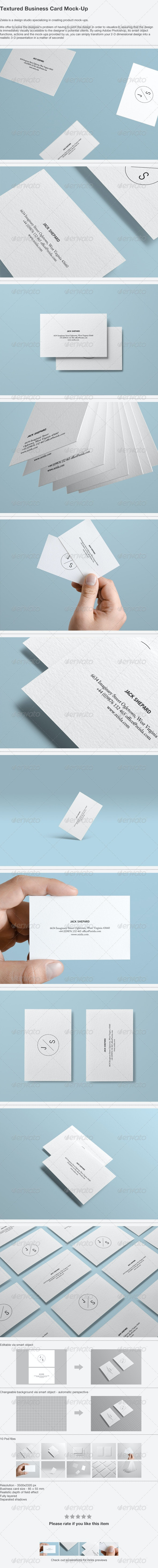 Textured Business Card Mock-up - Business Cards Print