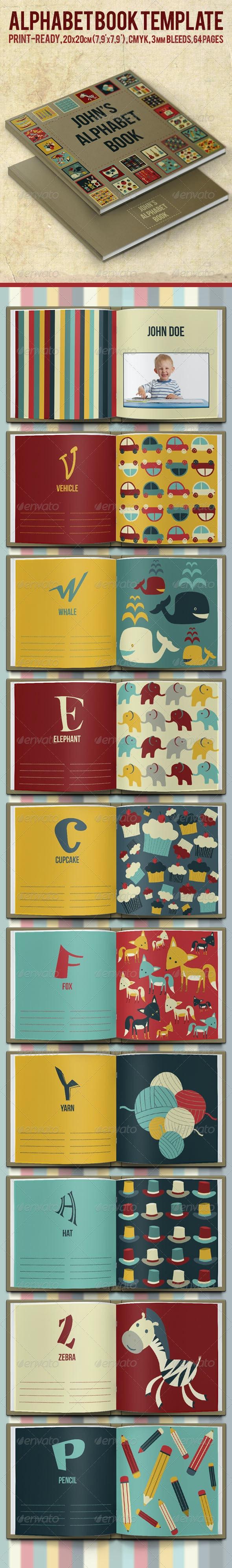 Alphabet Book Template - Miscellaneous Print Templates