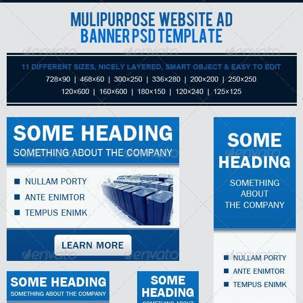 Multipurpose Website Banner Ad PSD Template