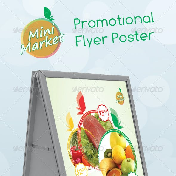 Mini Market Promotional Poster And Flyer