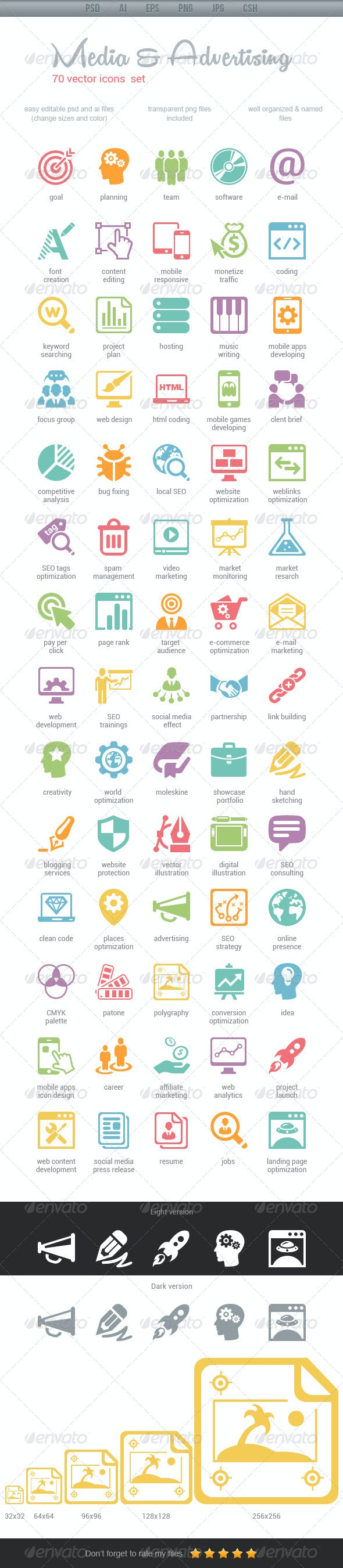 Media & Advertising Icons - Web Icons