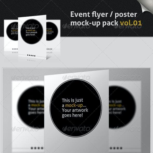 Event Flyer / Poster Mock-up Pack Vol.01