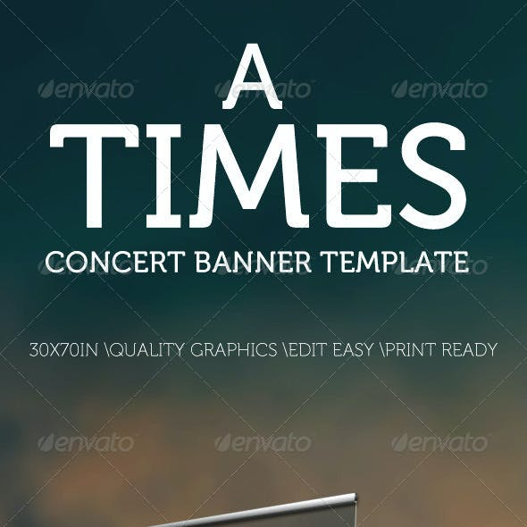 A Times Concert Banner Template