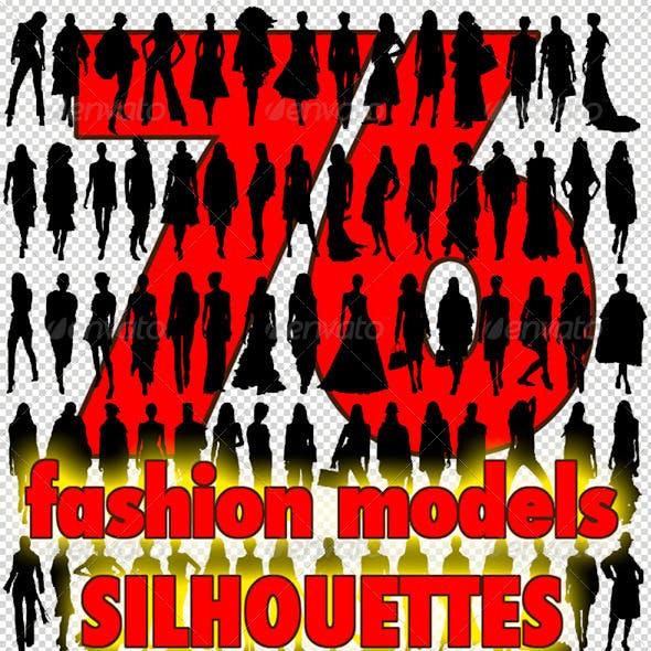 76 Fashion Model Silhouettes