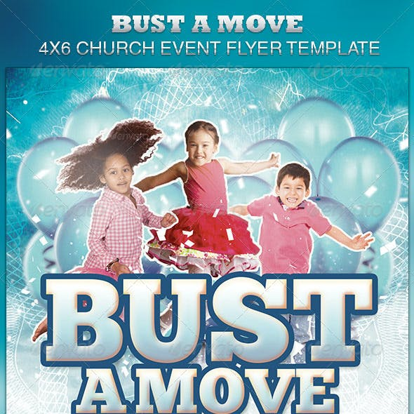 Bust A Move Church Event Flyer Template