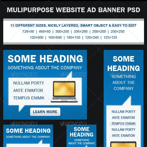 Multipurpose Web Banner Ad PSD Template