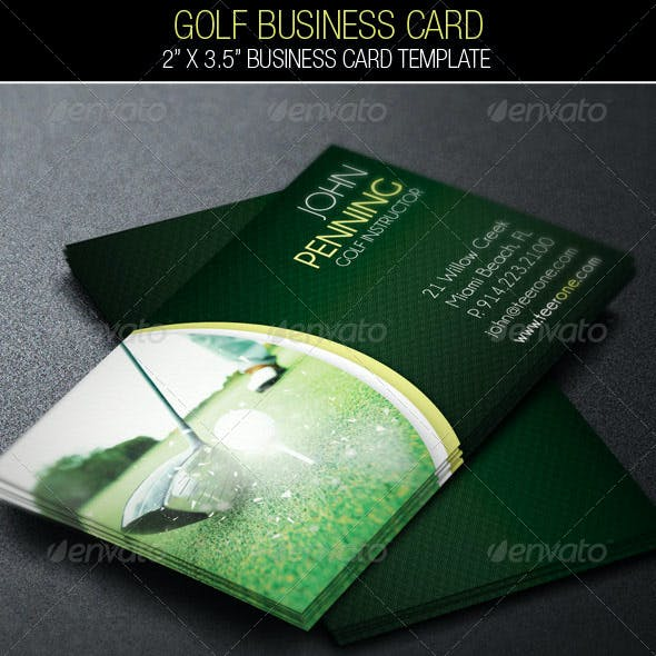 Golf Business Card Template