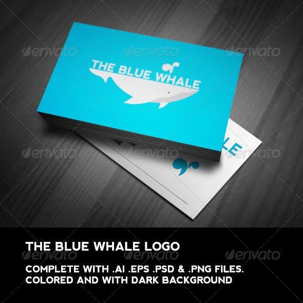 The Blue Whale Logo