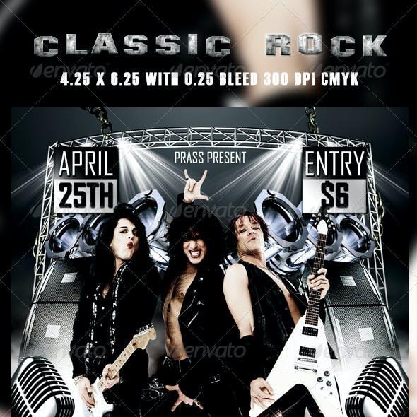 Classic Rocker Flyer Template