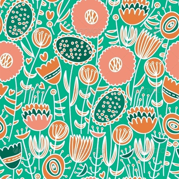 Colorful Seamless Floral Pattern - Patterns Decorative