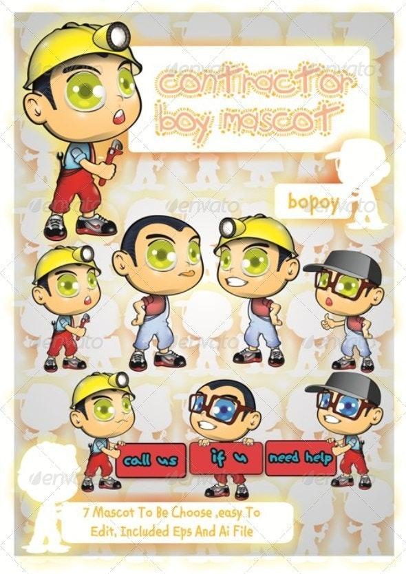 Contractor Mascot - Characters Vectors