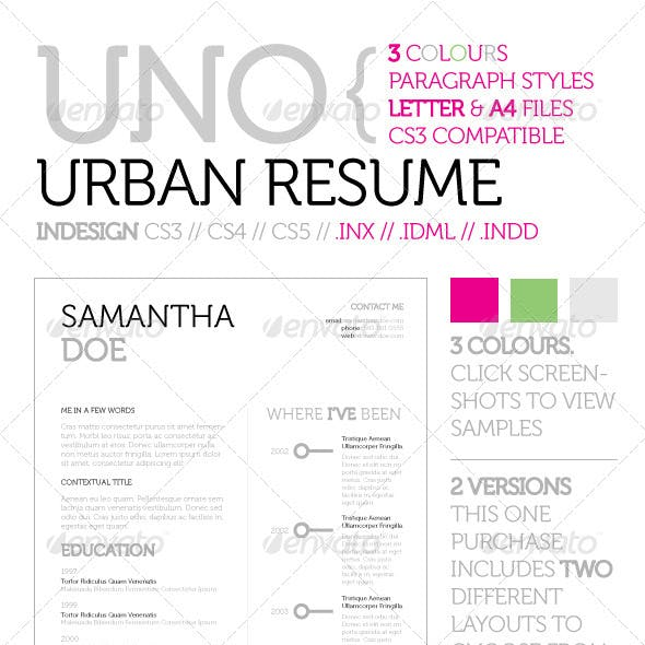 Uno Urban Resume