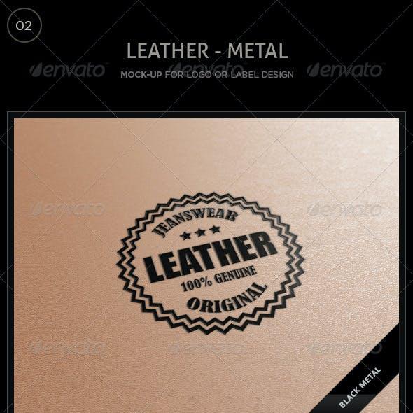 Logo/Label Mockup - Leather/Metal